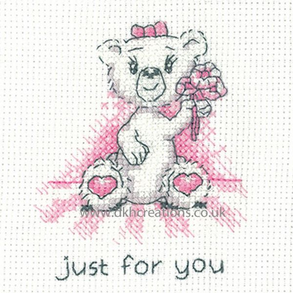Peter Underhill Justine Just For You Greeting Card Cross Stitch Kit